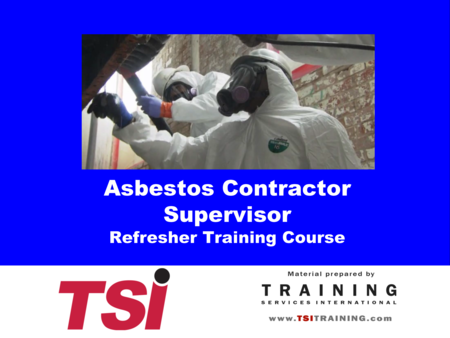Asbestos & OSHA Courses for Supervisors and Workers - TSI - Training ...