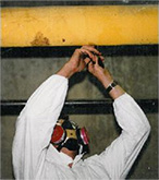 An Asbestos Abatement Specialist at Work