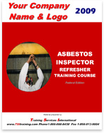 An asbestos inspector course manual with customization.