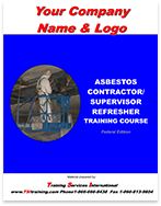 Asbestos Contractor/Supervisor manual showing customization
